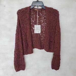 NWT Free People Brown Knit Daiquiri Cardigan